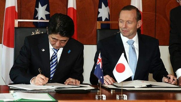 Shinzō Abe and Tony Abbott