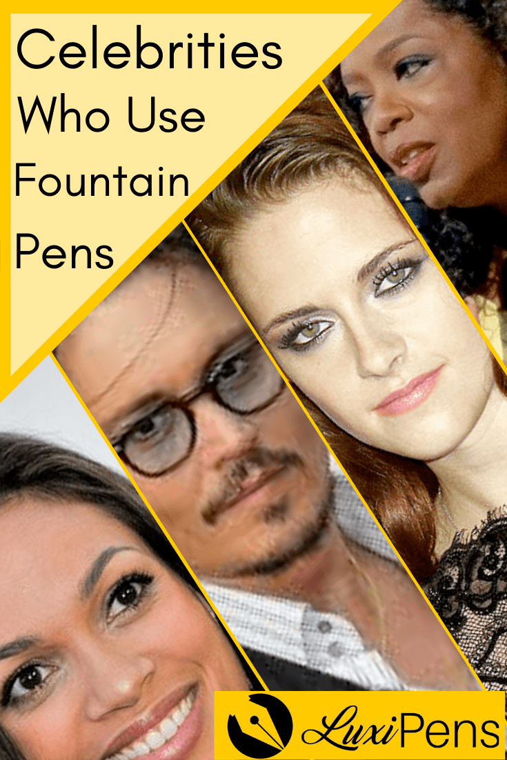 Celebrities Who Use Fountain Pens